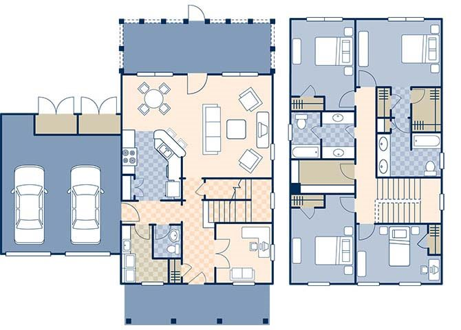 Bennett Shores East 1840 Floor Plan 3